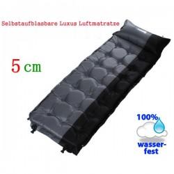 Schlafmatte Schlafsack Selbstaufblasbare Luftmatratze Kissen 5 cm dicker Luxus Openair Festival