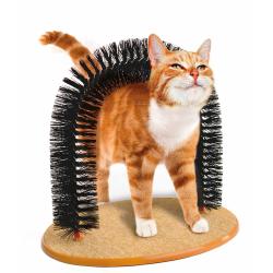 Katzen Haarfänger Borsten kratzfestem Teppich Katzenminze Massage Spielzeug Katzenspielzeug