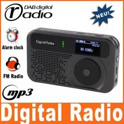 Mini DAB DAB+ FM Radio Mp3 Player Wecker Gerät Mobil Reisen Unterwegs Büro