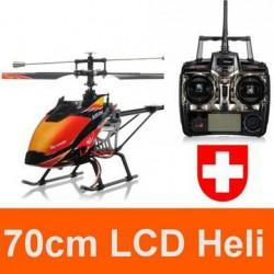 Ferngesteuerter Grosser 70cm 4 Kanal Heli Helikopter Helicopter Hubschrauber RC V913 Komplettset