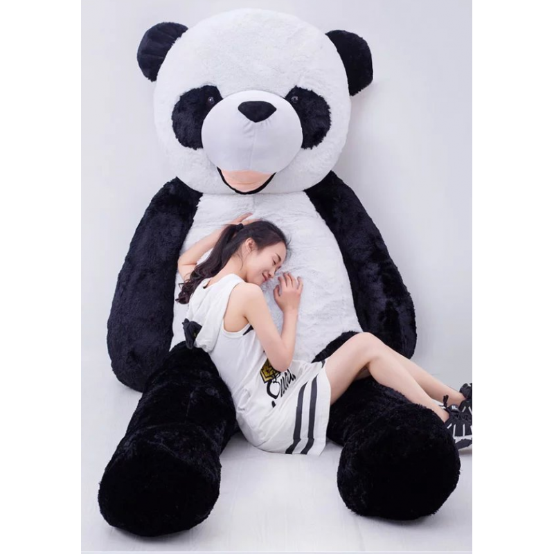 riesen panda b r pandab r pl sch pl schb r teddy schwarz. Black Bedroom Furniture Sets. Home Design Ideas