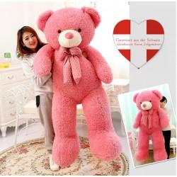 Riesen XXL 160cm Plüsch Bär Plüschtier Teddy Plüschteddy Teddybär Plüschbär Pink Rosa Geschenk Kind Frau