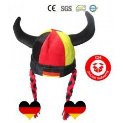 Deutschland Deutsch Germany Fan Hörner Fanhut Hut Mütze WM Fussball WM EM Teufel