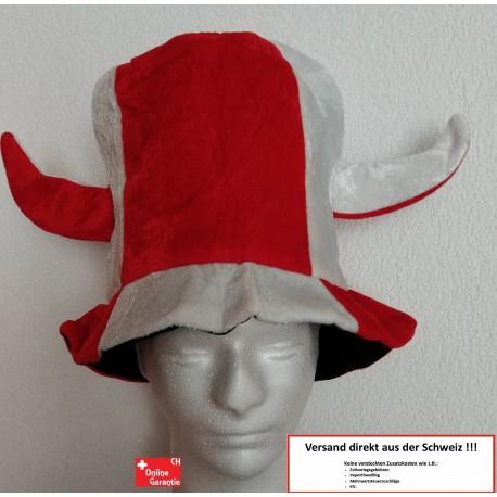 Schweiz Rot Weiss Fan Hut Fanartikel Schwiiz Switzerland Suisse Cap Kappe Fussball Hockey WM EM