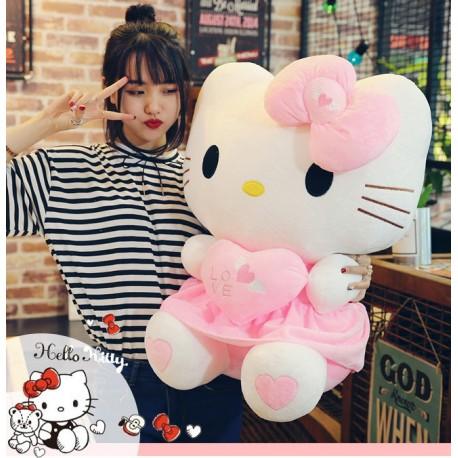 Hello Kitty Helloklitty Plüschtier Katze Pink Rosa XL 70cm Mädchen Kind Geschenk Love Liebe Herz