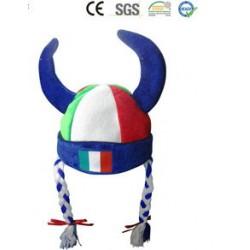 Italien Italy Italia Fan Hörner Fanhut Hut Mütze WM Fussball WM EM Teufel