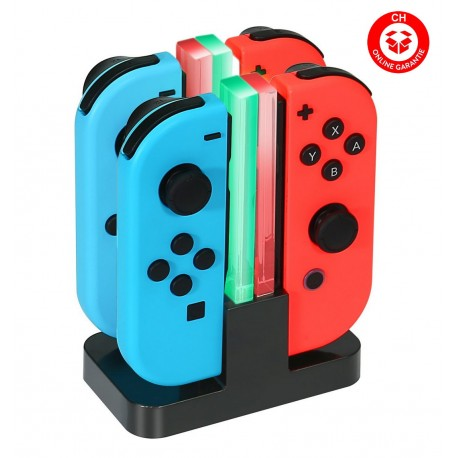 Nintendo Switch Controller Ladegerät Joy-Con Ladestation Dock Stromversorgung via USB oder per Adapter