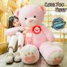 Riesen Teddybär Plüschbär Tedi Teddy Bär Plüschtier XXL Pink Rosa Liebe dich Love Love You Geburtstag Valentinstag
