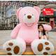 Riesen Teddy Teddybär Plüsch Bär Plüschbär Pink Rosa 260cm Plüschtier XXL XXXL XXXL Geschenk Frau Mädchen Freundin