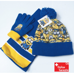 Minion Minions Ich einfach unverbesserlich Cap Mütze Schal und Handschuhen Set Kind Kinder Boy Mädchen Fan Winter