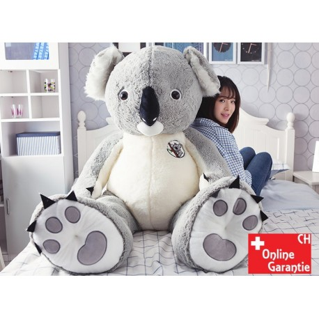 Koala Plüsch Plüschkoala Plüschtier Kuscheltier XXL 140cm 1.4m Geschenk Kind Kinder Frau Grau Pink