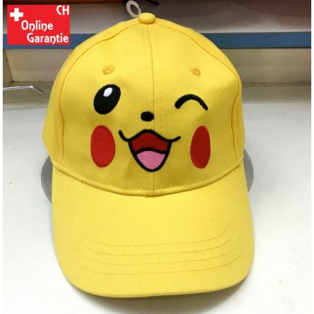 Pokemon Pokémon Pikachu Baseball Cap Basketball Mütze Kappe Fan Erwachsene Gelb Smile Happy