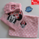 Disney Minnie Maus Minnie Mouse Mütze Beanie Cap Schal Handschuhe Handschuhen Winter Kleidung Set Winterset Kind Mädchen