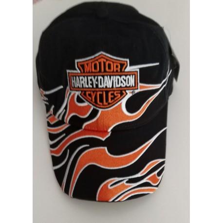 Harley-Davidson Harley Davidson Harley Cap Mütze Kappe Basecap Baseballcap Baseballkappe Schwarz mit Flammen