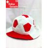 Schweiz Rot Weiss Fussball Fan Mütze Rotweiss Fussballkopf Hut mit Ball Fanartikel Hut Fanhut Fanmütze