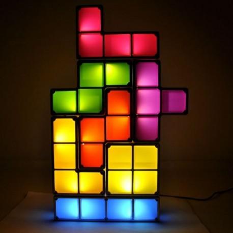 Tetris Lampe Tetrislampe Klassiker Tischlampe Tischleuchte Gadget Geschenk Hit Videospiel