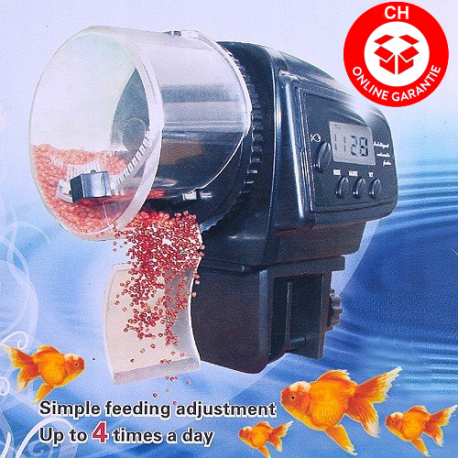 Fisch Automatischer Futter Automat Fischfutterautomat Futterautomat Aquarium mit LCD Display