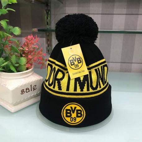 Borussia Dortmund BVB Fan Beanie Cap Mütze Winter Kleidung Schwarz Gelb Fanshop