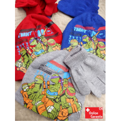 Teenage Mutant Ninja Turtles TMNT Mütze Beanie Mütze Handschuhe Winter Set Kinder