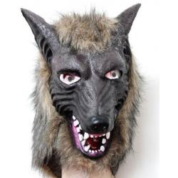 Wolf Maske Latex Fasching Fasnacht Halloween Tier Maske