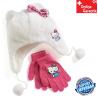 Hello Kitty Mütze Kappe Beanie Handschuhe Set für Kinder Mädchen Fan Kleidung HK Hellokitty