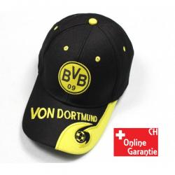 Borussia Dortmund BVB Fan Cap Mütze Kappe Fussball Schwarz Gelb Grau Baumwolle