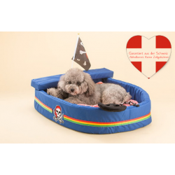 Kuschel Piratenschiff Hund Hunde Katze Schlafplatz Bett Hundebett Katzenbett Hundebett Tierbett