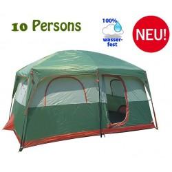 Grosses Zelt XXL Openair Camping Outdoor Ferien Jagd Festival 10 Personen Wasserfest Hauszelt