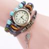 Frauen Damen Uhr Analog Quarzwerk mit handgefertigt geflochten Leder Armband