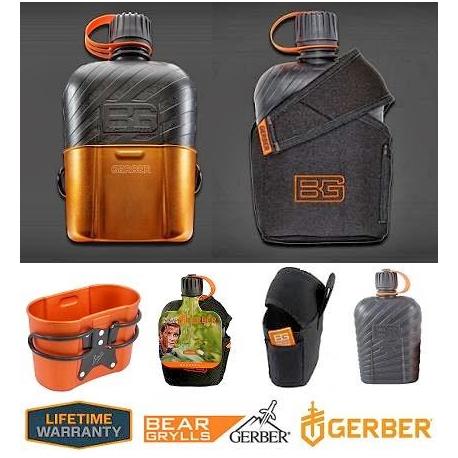 Gerber Bear Grylls Canteen Feld Flasche Outdoor Feldflasche Kochschale BPA-frei