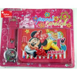 Minnie Maus Uhr Geldbörse Portemonnaie Minnie Mouse Geschenk Mädchen