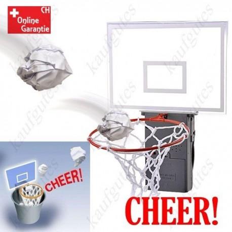 Applaudierender Basketballkorb Basketball Korb für Papierkörbe Mülleimer mit Sound Geschenk Büro Gadget