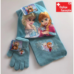 Disney Die Eiskönigin 3tlg.  Kinder Mütze Beanie Schal Handschuhe Frozen Anna Elsa Accessoire