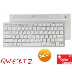Bluetooth Tastatur Keyboard QWERTZ Windows macOS iPad iOS Android Tablet Drahtlos