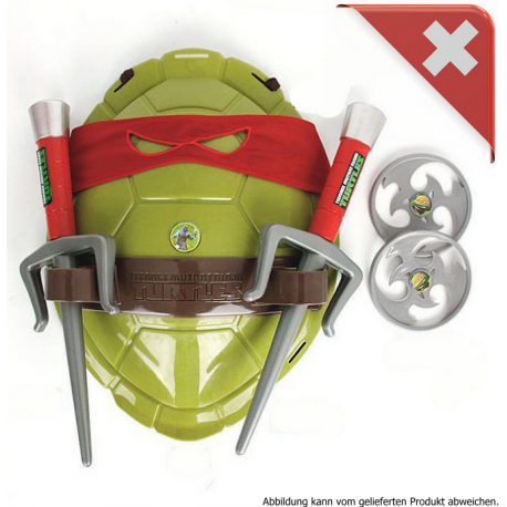 Teenage Mutant Ninja Turtles Raphael TMNT Rot Spielzeug Waffen Set Kostüm Panzer Kinder