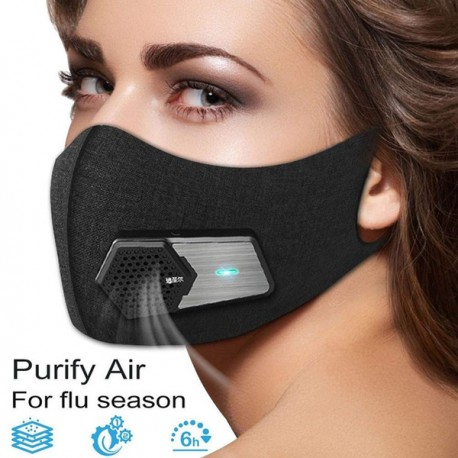 Elektro Maske KN95 Anti Nebel und Partikel Elektrische Frische Gesichtsmaske PM2.5 USB Ventilator