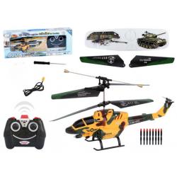 Ferngesteuerter Kampfhelikopter Kampfhubschrauber 3 Kanal Heli RC Raketen Helikopter