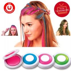 Hot Huez Temporäre Haarfärbe Haar Farbe Kreide Haarfarbe Haartönung TV Hit USA 4 Farben Fasnacht