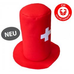 Schweizer Schwiiz Swiss Suisse Fan Zylinder Hut Kappe Mütze Fussball EM