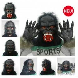 Gorilla Maske Affen Tier Maske Gorillamaske Affenmaske King Kong Tiermaske Halloween Fasnacht