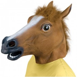 Pferdemaske Pferdekopf Pferde Maske Pferdemaske Fun Fasnacht Party Halloween Fasnacht