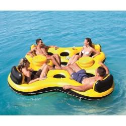 Aufblasbare Schwimmende Insel Boat 4 Personen Sommer Wasser Spass
