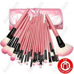 32-teiliges Profi Kosmetik Makeup-Pinsel-Set Case Pink Makeup Pinselset Geschenk