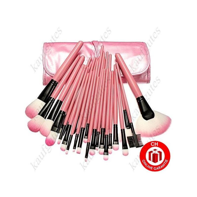 32 teiliges profi kosmetik makeup pinsel set case pink. Black Bedroom Furniture Sets. Home Design Ideas