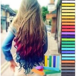 Färben Haartönung Kreide Haar Temporäre Färbe Farbe Fasnacht 24 Farben Set