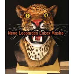 Leoparden Tiger Maske Tiermaske Fasnacht Latex Kostüm Neu Leopardenmaske Tigermaske