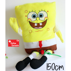 Spongebob Schwammkopf XXL 150cm Plüsch Plüschtier Bob Schwamm kopf Super Weich Plüschtier Fernsehserie