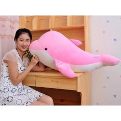 Delfin Plüsch Plüschfisch Plüschfigur Süss Geschenk XL Pink Mädchen