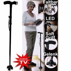 Gehstock mit LED Licht Trusty Cane Rentner bekannt aus dem TV