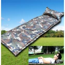Militär Selbstaufblasbare Luftmatratze Schlafmatte Schlafsack Outdoor Camping Reisen Openair Camouflage